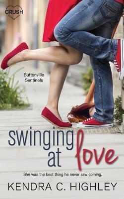 swinging at
